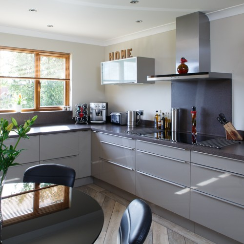 German Kitchen With Corian Worktops